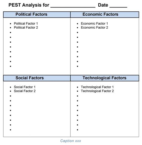 pest analysis template pest analysis template word 2007 2010 2013