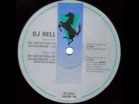 definition of house dj hell my definition of house music 1992 youtube