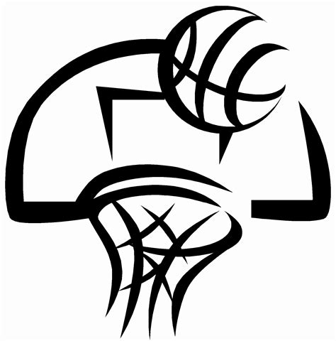 basketball clipart free basketball black and white abstract clipart clipart suggest