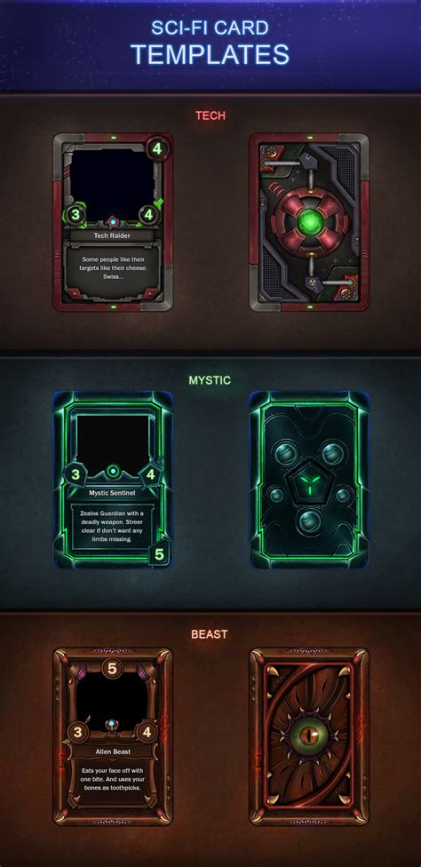 Element Trading Cards Template by Sci Fi Card Templates 2 0 By Vengeancemk1 Deviantart