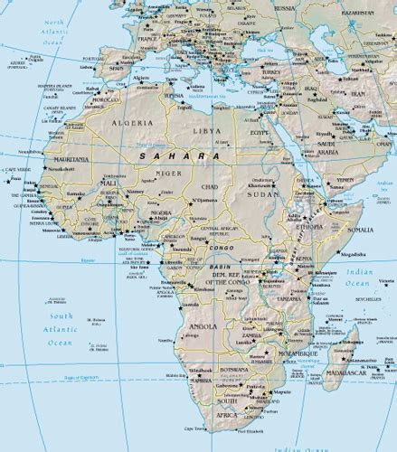 africa map cities africa map satellite city maps