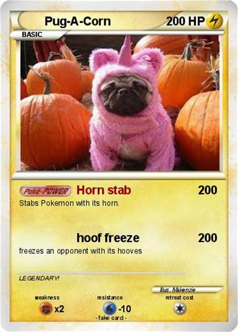 pug cannon pok 233 mon pug a corn horn stab my card