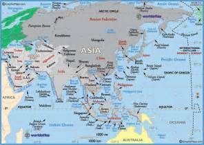 Where Is Asia On The Map by Asia Country Flags