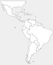 Latin America Blank Map by Map Latin America Colouring Pages