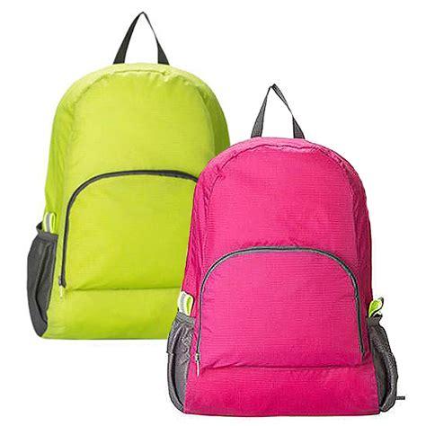 Tas Belanja Troli Lipat Polos Orange tas ransel lipat foldable backpack tas punggung lipat ransel travel elevenia