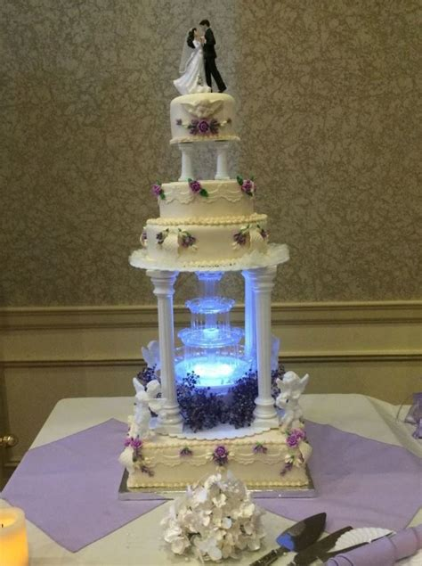 Wedding Cakes With Fountains by Moonlit Wedding Cake Cakecentral