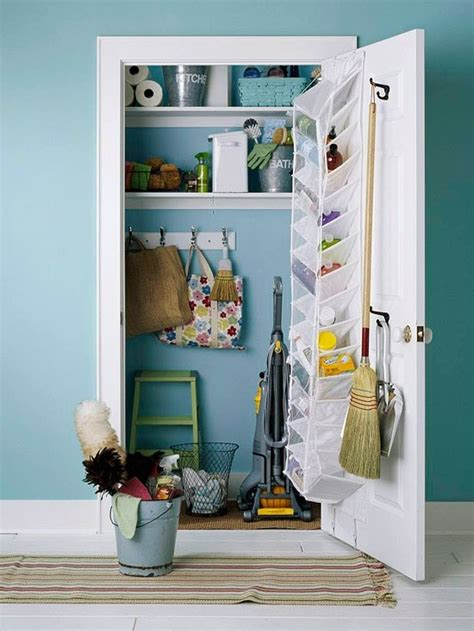 Utility Closet Storage by Cleaning Broom Closets