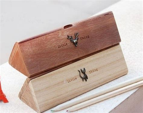 Pencil Box Handmade - handmade wooden jewelry box wooden pencil box vintage