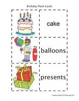 birthday flash cards teaching
