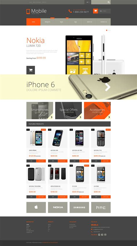 Mobile Phones Shopify Theme 52932 Shopify Template