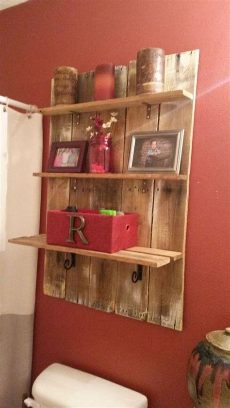 its easy to create pallet wood shelves wood pallet ideas