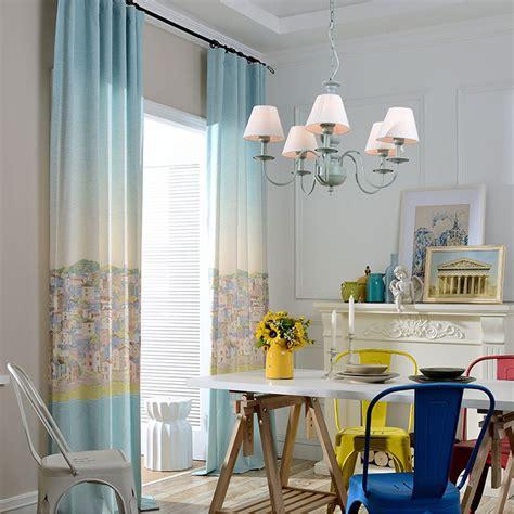 4 styles of kids bedroom curtains mediterranean style cartoon curtains printed window