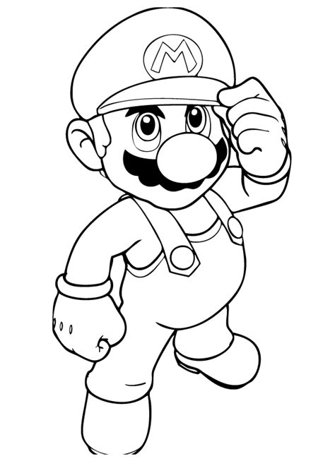 Mario Coloring Pages Free Online | free printable mario coloring pages for kids