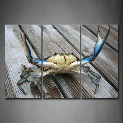 Blue Crab Wall Decor by 3 Wall Painting Blue Crab Stretch Out Claw On