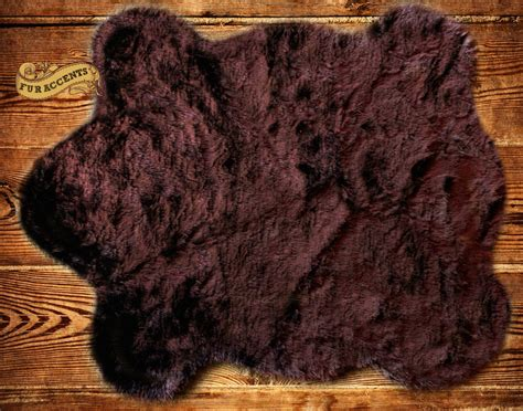 Pelt Rug by Fur Accents Faux Fur Skin Pelt Rug Accent By Furaccents