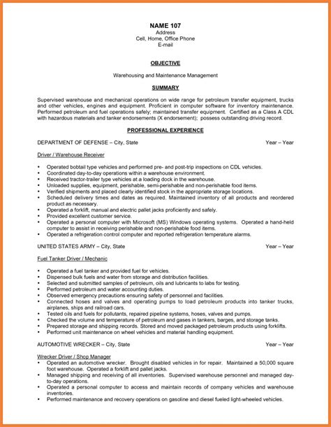 Simple Cv Exles by 15461 Warehouse Resume Exles Cv Template Questions Exles