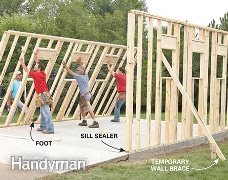 build shed walls plus floor twofeetfirst framing a garage the family handyman