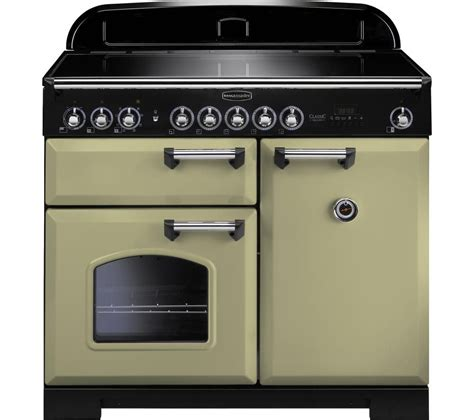 electric oven with induction hob rangemaster classic deluxe 100 electric induction range cooker olive green chrome olive