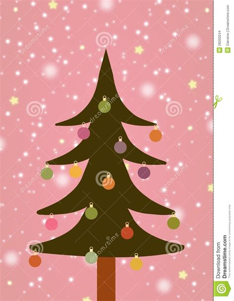 illustrated christmas tree stock images image 28200244