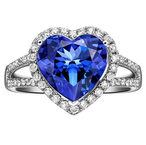 1 50 carat cut blue sapphire and halo