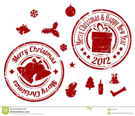 red christmas stamps royalty  stock photography image