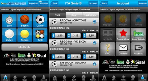 sisal match point mobile sisal matchpoint scommesse l app ufficiale arriva sullo