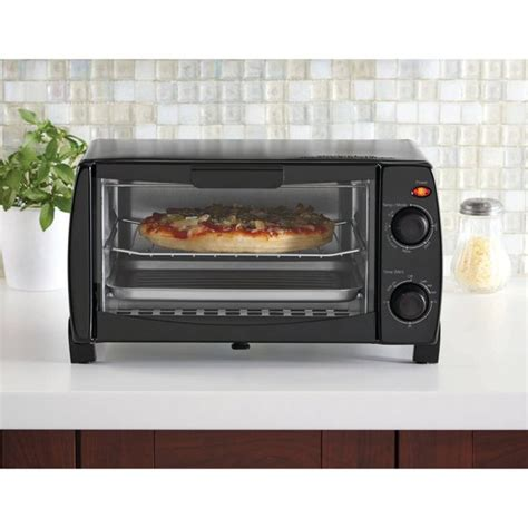 toasters at walmart mainstays 4 slice toaster oven black walmart