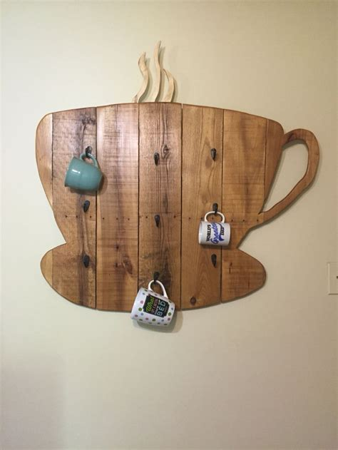 How To Decorate A Coffee Mug Coffee Mug Rack Made From A Pallet And Stained With Coffee
