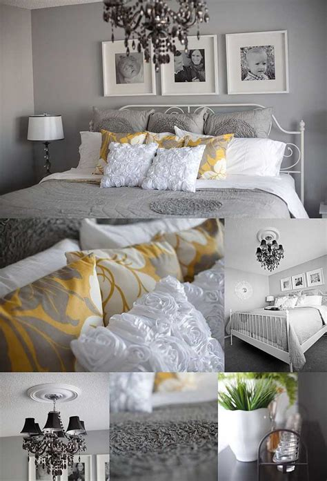yellow and grey master bedroom pictures including