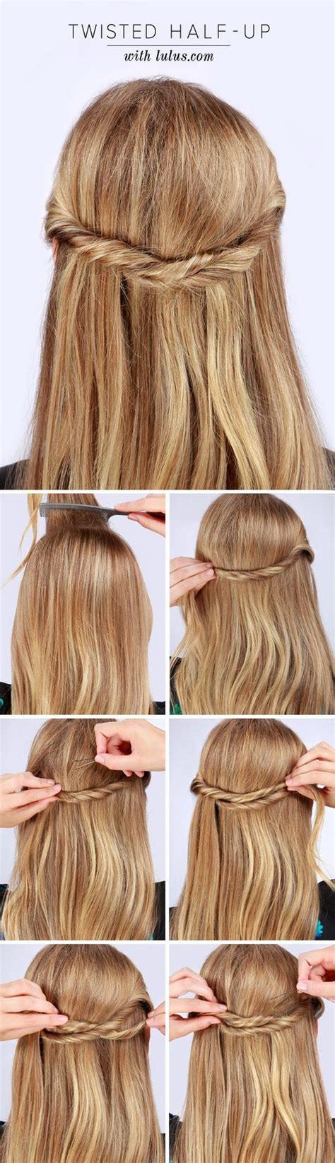diy half up half down hairstyles pinterest 55 stunning half up half down hairstyles