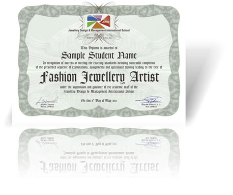 jewelry design certificate jdmis fashion jewellery fabrication certificate