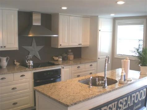 white cabinets gray walls kitchens taupe paint design ideas