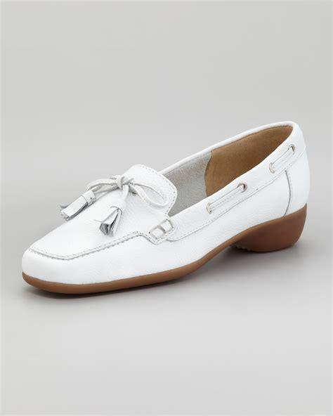 sesto meucci loafers sesto meucci echo tassel loafer in white lyst