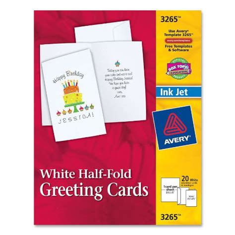 avery greeting card template 3265 avery half fold greeting cards for inkjet printers 5 5