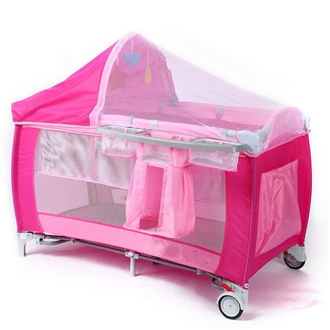 Safest Portable Crib by New Style Multifunctional Infant Crib Casters Mosquito