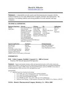 network engineer resume sle cisco david wheeler network security engineer resume