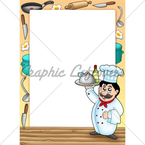 Kitchen Collection Llc by Frame With Chef Holding Meal 183 Gl Stock Images