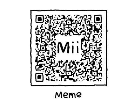 Meme Qr Code - meme mii qr codes