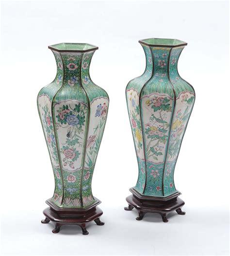 vasi cloisonne coppia di vasi cloisonn 232 cina xx secolo antiquariato e