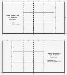 Tri Shutter Card Template by Beccy S Place Tutorial Shutter Card Aka