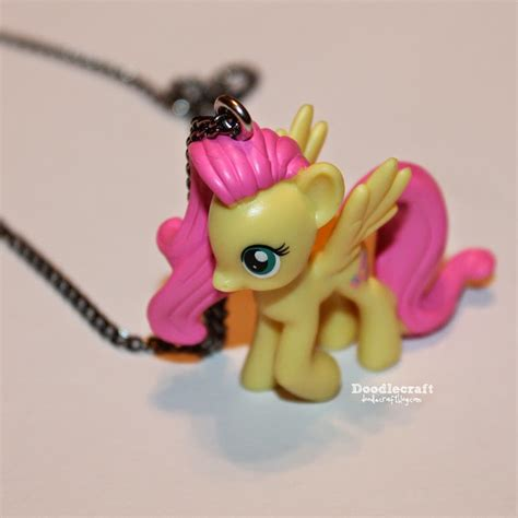 my pony crafts for doodlecraft blind bag fluttershy pony necklace