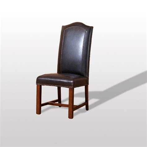 tuscan side dining chair set leather nailhead trim set of