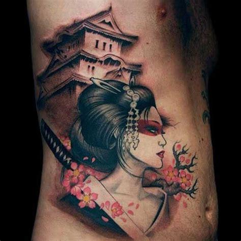 tatuaggi geisha con fiori japanese geisha japanese tattoos japanese