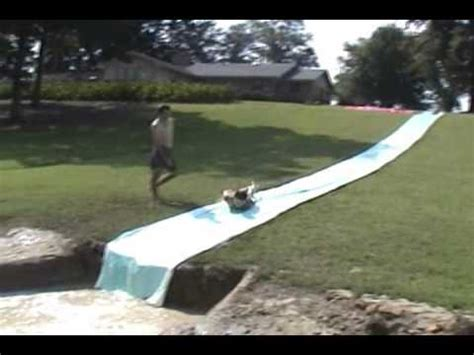 Backyard Slip N Slide by Neck Summer Sports And Backyard Water Slide Wmv
