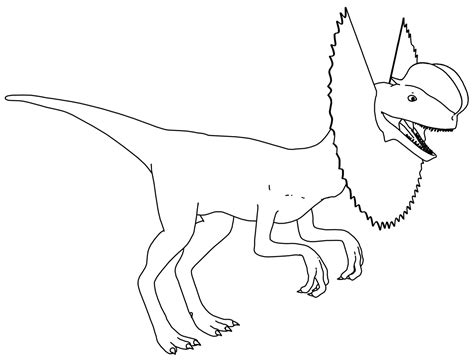 dinosaur pictures to color dilophosaurus dinosaur coloring page wecoloringpage