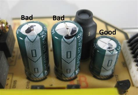 what causes bulging capacitors just repaired my lg screen by changing 4 capacitors electronics