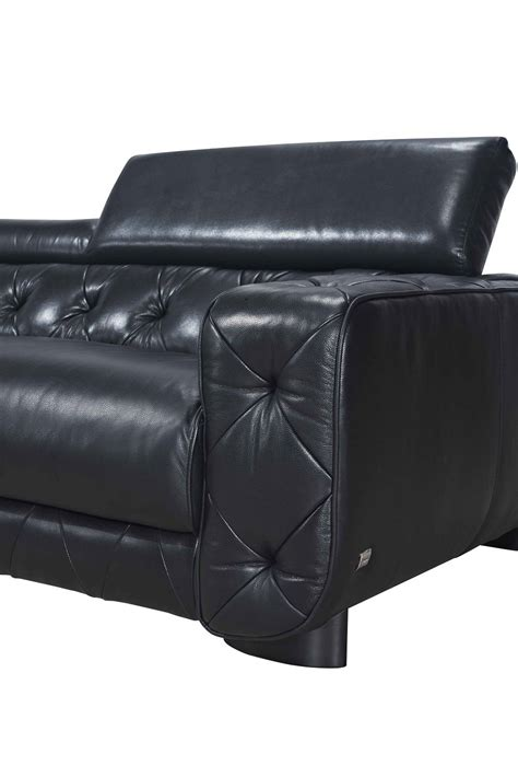 genuine leather sectional sofa large contemporary black tufted genuine leather sectional