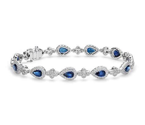 Blue Sapphire Bracelet blue sapphire and diamonds bracelet ceylon gem bureau