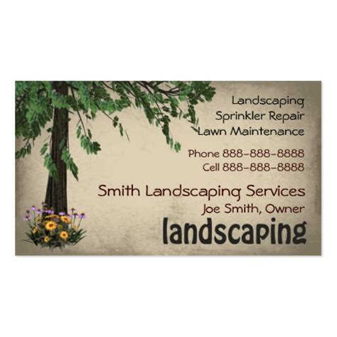 landscaping business cards landscaping lawn care services business card zazzle
