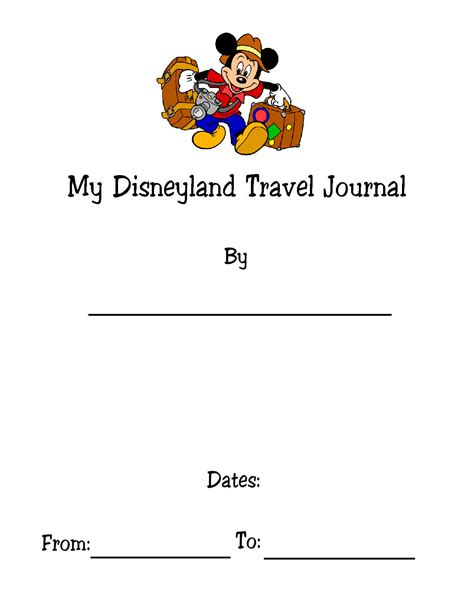 printable disney journal pages disney travel journal kids version make it fun to save